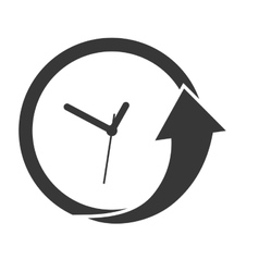 Clock and arrow icon time design graphic vector