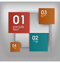Color squares design vector