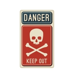 Danger sign with skull vector image