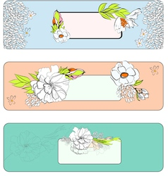 decorative template for banners design vector image vector image