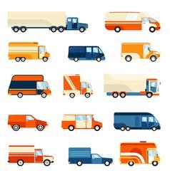 Delivery trucks set vector
