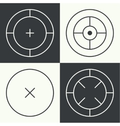 Different types of crosshair vector