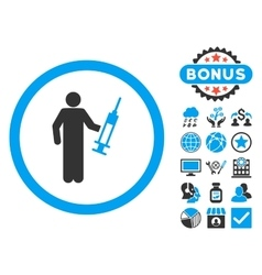 Drug dealer flat icon with bonus vector
