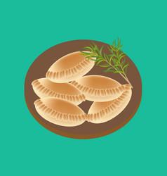 Empanadas food vector