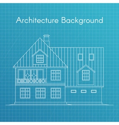 family house or cottage Architecture blueprint vector image