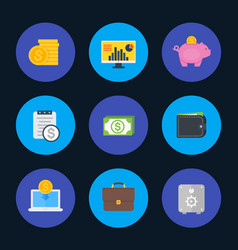 finance money payments icons set flat style vector image