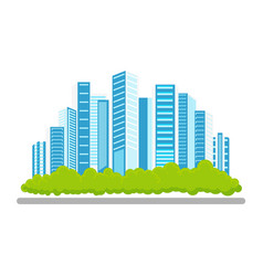 Flat modern city icon concept vector