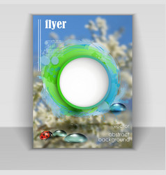 flyer with spring background vector image vector image