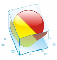 frozen button flag of sicily vector image vector image