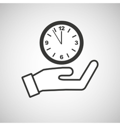 hand hold clock money time vector image