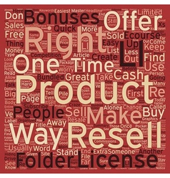 How To Make Quick Cash With Resell Rights text vector image