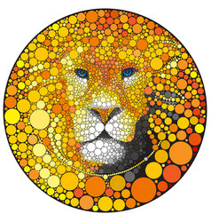 lion abstract wild cat animal vector image