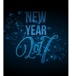 Marry Christmas and Happy New Year 2017 lettering vector image vector image