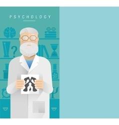 Psychologist in glasses vector