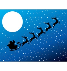 santa stars moon vector image