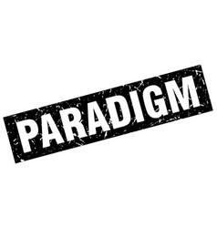 Square grunge black paradigm stamp vector