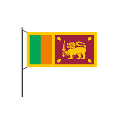 Sri lanka flag icon flat style vector