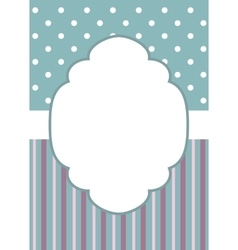 stripes and polka dot on blue vector image
