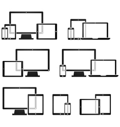 Technology Device Symbols vector image vector image