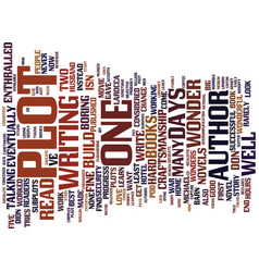 The one plot wonder text background word cloud vector