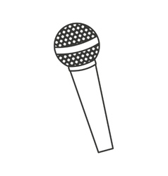 Microphone audio device icon vector