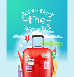 Vacation travelling concept travel with the bag vector