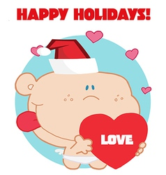 Holiday baby cartoon vector