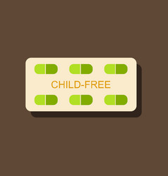 flat icon design birth control pills in sticker vector image