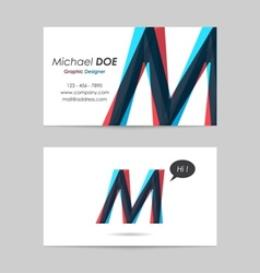 Business card template - letter m vector