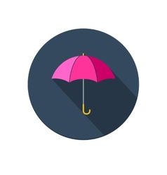 Pink umbrella icon vector
