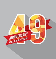 49th years anniversary celebration design vector