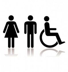 Toilet symbols disabled vector