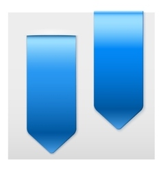 Set of popular blue ribbons sticker on top vector