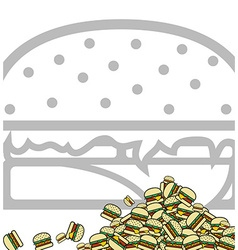 Background of poured hamburgers preparation for vector