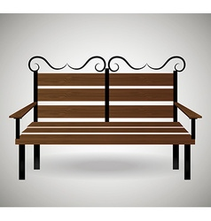 Wooden chair design vector