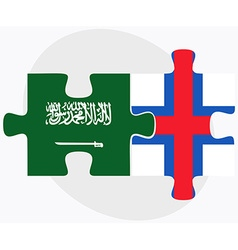 Saudi arabia and faroe islands vector