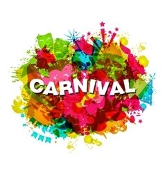 Carnival splotch abstract grunge watercolor vector
