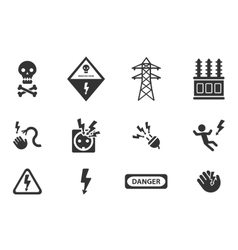 High voltage simply icons vector