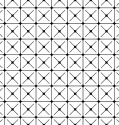 Seamless abstract monochrome geometric pattern vector
