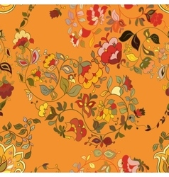 Floral seamless background pattern wallpaper vector image