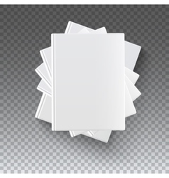 Blank books on transparent vector