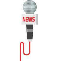 Microphone news isolated on vector