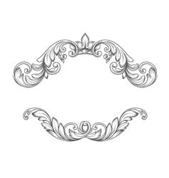 Vintage label frame design elements vector