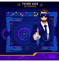 Abstract future user interface vector