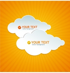 Abstract paper cloud like speech bubble vector image vector image