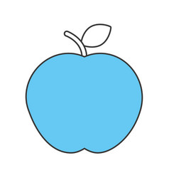 apple fresh isolated icon vector image vector image