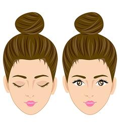 Beautiful women face vector