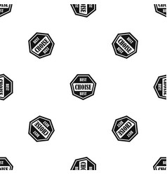 Best choise label pattern seamless black vector