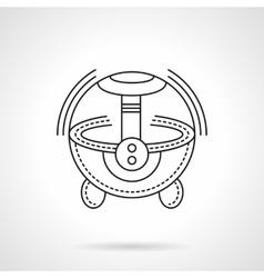 Black flat line humidifier icon vector