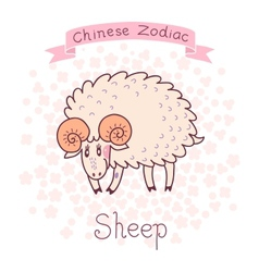 Chinese zodiac - sheep vector